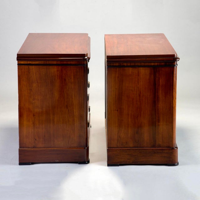 1940s English Mahogany Chests With Black Detailing - a Pair For Sale - Image 5 of 11