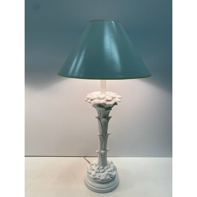 Serge Roche Style Palm Motife Table Lamps For Sale - Image 4 of 12