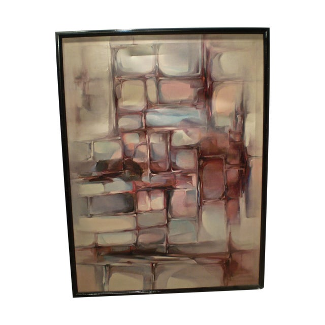 Large Modern Abstract Painting - Image 1 of 4