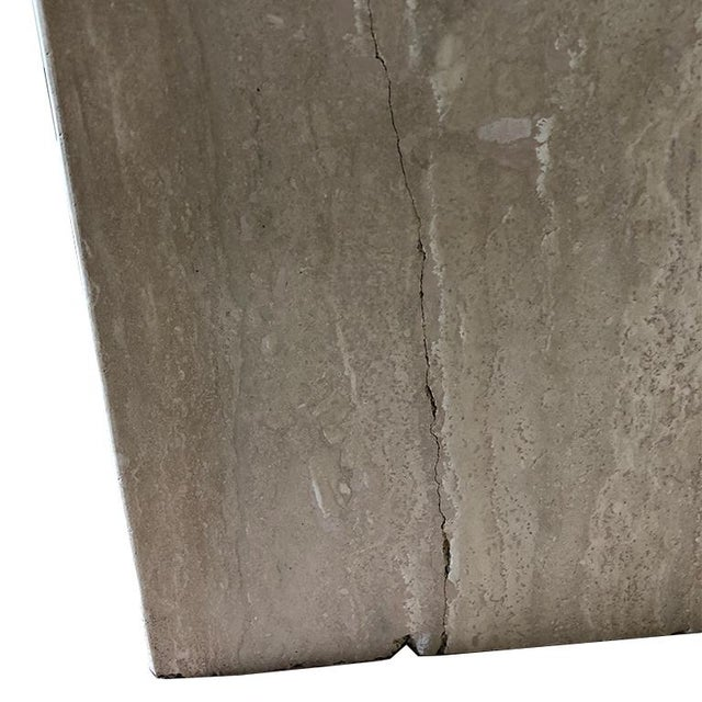 Travertine Square Stone Italian Maximalist Table Base by Artedi Made in Italy For Sale - Image 12 of 12