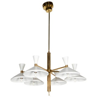 Italian 1950s Modern Chandelier For Sale