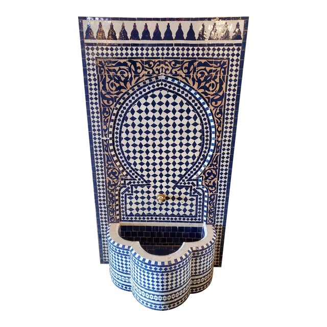 Marrakech 2-Tone Moroccan Mosaic Fountain For Sale