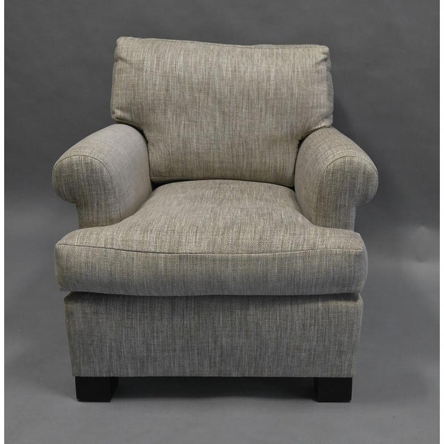 Gray Lounge Chair Upholstered in Colfax and Fowler Fabric For Sale - Image 8 of 8