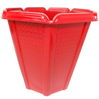 Mid-Century Modern Red Trash Can / Bin For Sale