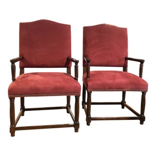 Restoration Hardware Arm Chair Made by Bernhardt - a Pair For Sale
