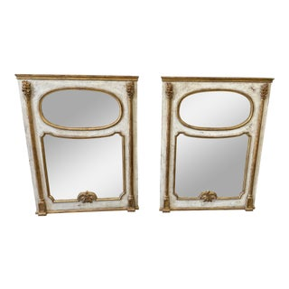 Italian Trumeau Parcel Gilt Mirrors - a Pair For Sale