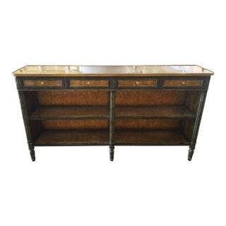 Theodore Alexander Eglomise Gold Console Table For Sale