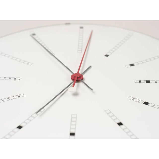 Extra Large Bankers Wall Clock by Arne Jacobsen for Gefa, 1971 For Sale - Image 6 of 7