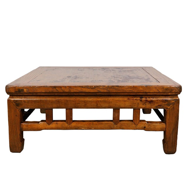 Antique Chinese Carved Kang Table/Coffee Table For Sale In Los Angeles - Image 6 of 12