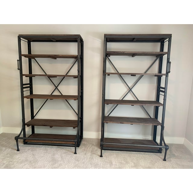 2010s Restoration Hardware French Library Bookcases - a Pair For Sale - Image 5 of 5
