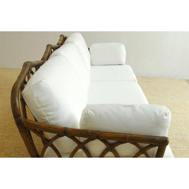 McGuire Organic Modern Bamboo Rattan Sofa For Sale In San Francisco - Image 6 of 13