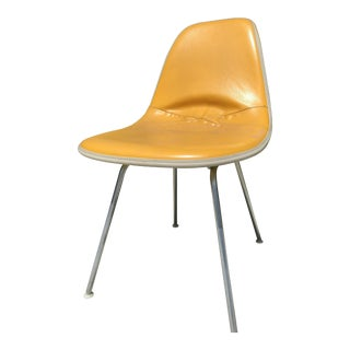 1970s Vintage Eames for Herman Miller Yellow Contract Color Chair For Sale