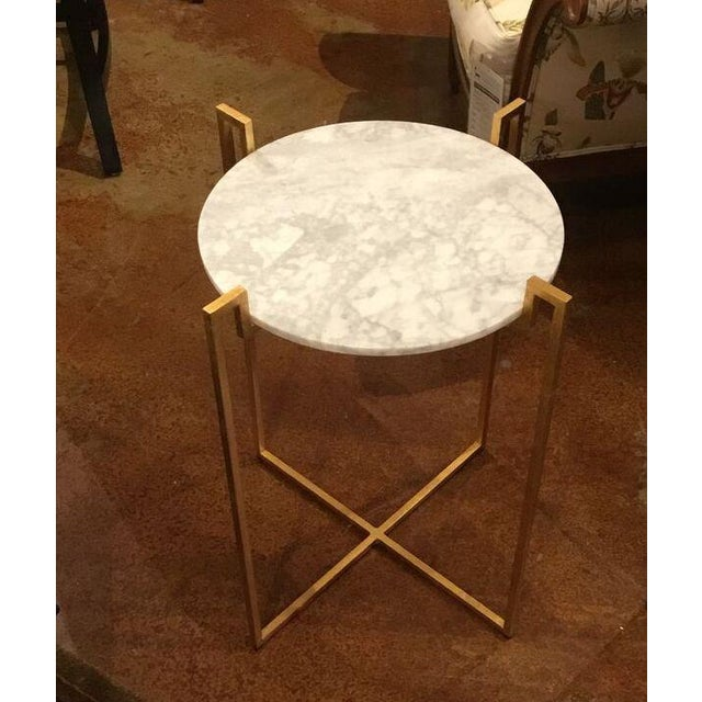 Worlds Away Abel Gold Side Table - Image 2 of 6