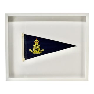 Vintage Royal Hong Kong Yacht Club Burgee, Flag, Pennant For Sale