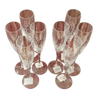 Kate Spade Lenox Beacon Street Champagne Flutes- Set of 8 For Sale