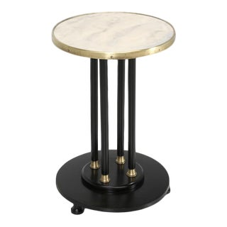 Antique French Empire Side Table Ebonized For Sale