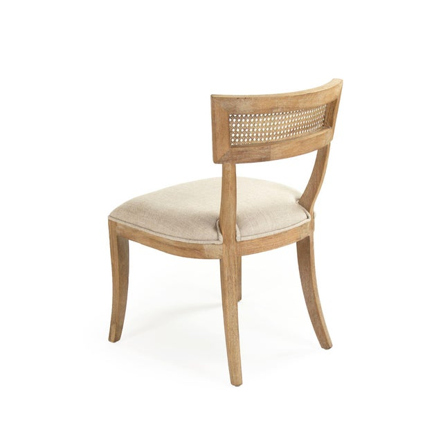 French Country Selborne Cane Back Side Chair in Cream For Sale - Image 3 of 6