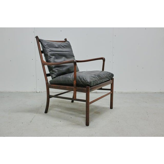 Mid 20th Century Rosewood Ole Wanscher Colonial Chair, P. Jeppesens Møbelfabrik, Denmark, 1960s For Sale - Image 5 of 13