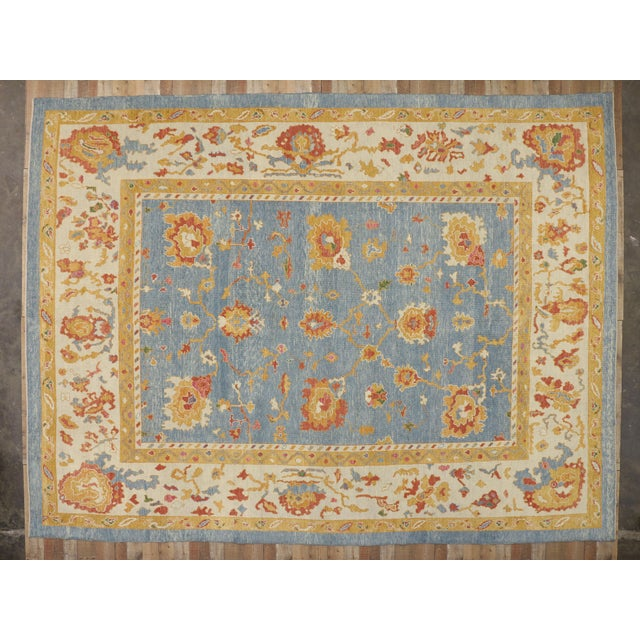 Contemporary Turkish Oushak Rug - 11′10″ × 15′9″ For Sale In Dallas - Image 6 of 7