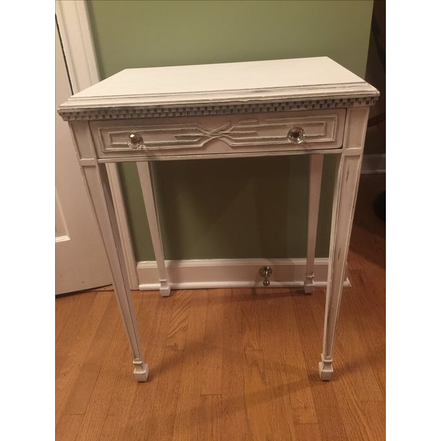 White Distressed Entry Table or Side Table - Image 2 of 5