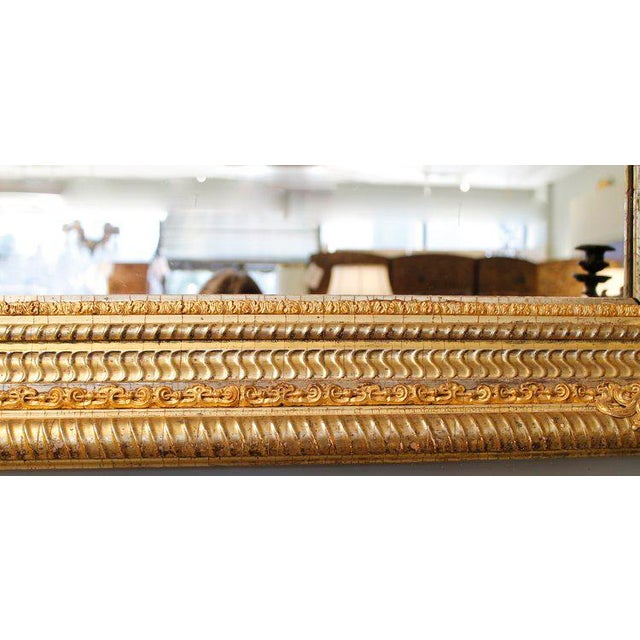19th Century German Ripple Carved Gilded Mirror - Image 2 of 7