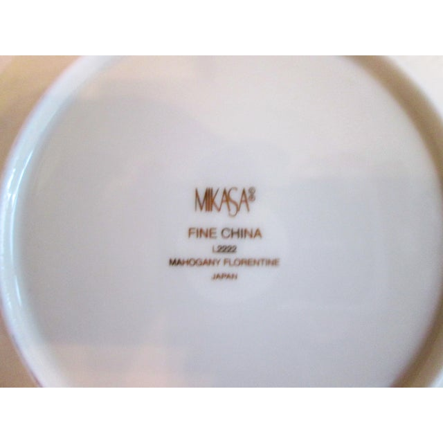 Mikasa Mahogany Florentine Luncheon Set - 18 Pieces For Sale - Image 9 of 9