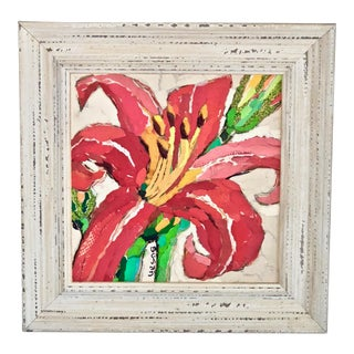 Red Lily Collage For Sale