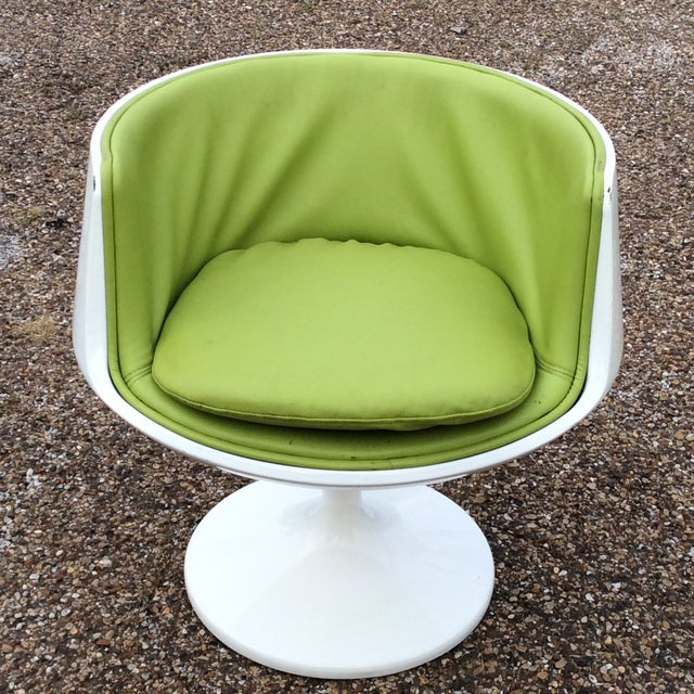 Late 20th Century Vintage Eero Aarnio Finland Green Leather Cognac Chair For Sale In Dallas - Image 6 of 6