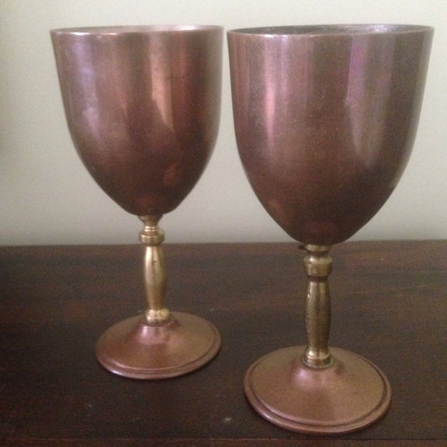 Copper & Brass Goblets - a Pair - Image 11 of 11