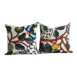 Marimekko Tiara Orange Pillows - A Pair