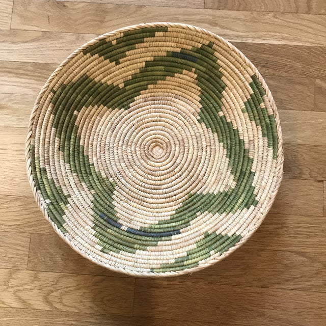 African 1970s African Flat Baskets - Set of 3 For Sale - Image 3 of 6