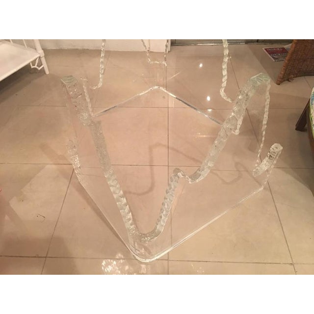 Lucite Glacier Iceberg Dining Table or Desk Bases - A Pair - Image 4 of 12