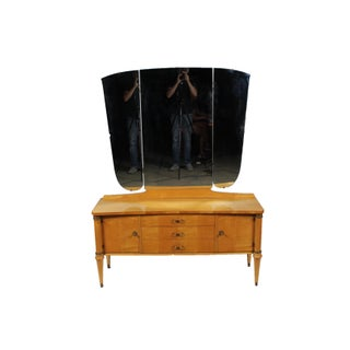 1930s Directoire Maple Dressing Table & Mirror Preview