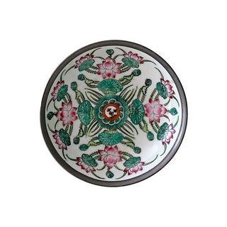 Encased Porcelain Floral Dish For Sale