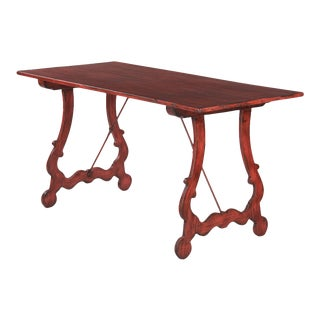 Spanish Painted Pine Table For Sale