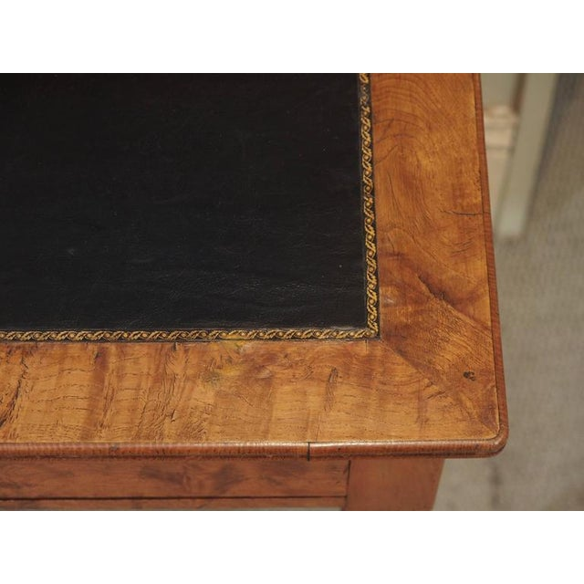 Antique French Louis Philippe Burled Elm Writing Table or Secretaire For Sale In New Orleans - Image 6 of 9