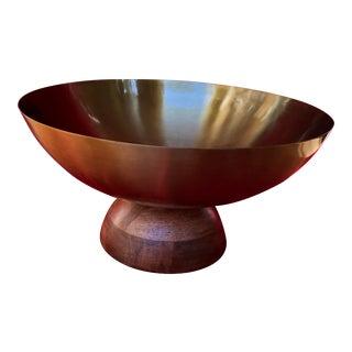 Brass Pedestal Bowl For Sale