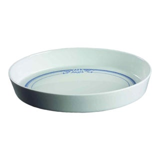 1990s Oval Sole Dish Cafe Paris Blue by Bernardaud For Sale