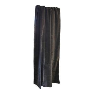 Vintage Restoration Hardware Graphite Velvet Drapes For Sale