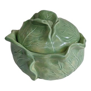 Vintage Lidded Cabbage Bowl For Sale