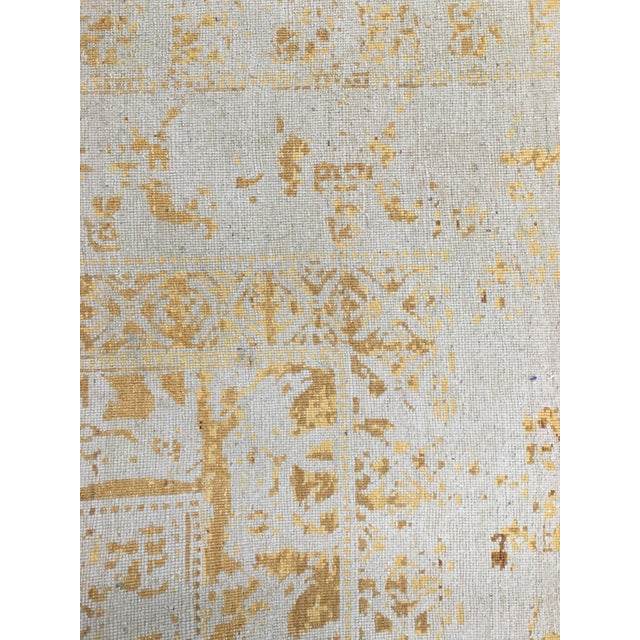 Modern Beige and Gold Wool Hand Knotted Area Rug With Animal Motifs - 5'9 X 8' For Sale - Image 3 of 4