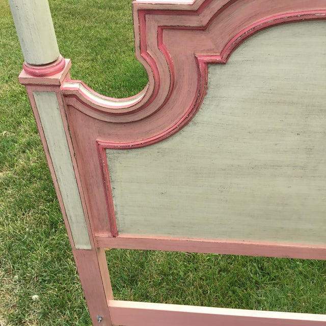 John Widdicomb Painted Pink Twin Bed Headboards - A Pair For Sale In Chicago - Image 6 of 9