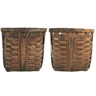 19th Century American Potato Baskets - a Pair For Sale