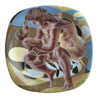 1990s Hans Erni Decorative Porcelain Plate For Sale