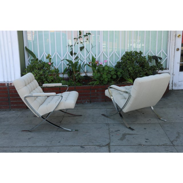 Steel Chrome Lounge Chairs inspired by Milo Baughman For Sale - Image 9 of 13