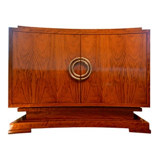 Cabinet Aphelion in Matched Figured Flame Olivewood For Sale