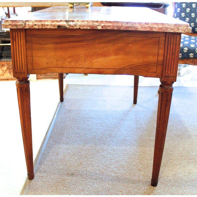 18th Century Italian Neoclassical Inlaid Marble Top Console For Sale - Image 4 of 10