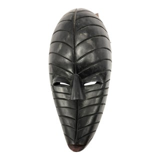 1900s African Hand Carved Wooden Wall Mask For Sale