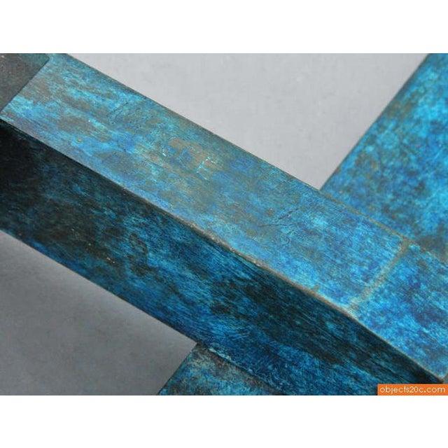 "Aluminum 1990s Vintage Larry Mohr ""Nancee"" Abstract Bronze Sculpture For Sale - Image 7 of 9"