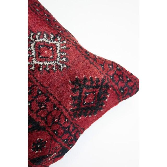 Textile Boho Chic Carpet Pillow For Sale - Image 7 of 11